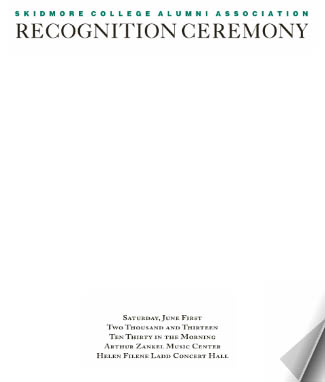 Recognition ceremony program