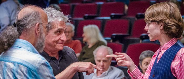 Robert Boyers & Robert Pinsky with student