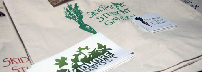 Give away items from the Student Garden and composting project